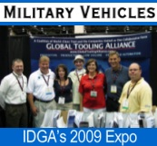 Gary Kimmen and other Global Tooling Alliance Members at Military Vehicle Show