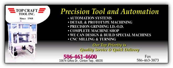 Presision Tool and Automation from Top Craft Tool